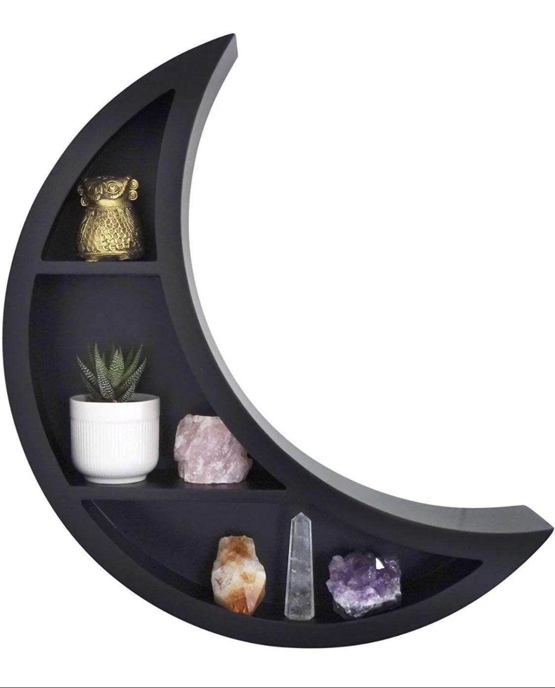 Crescent Moon-Shaped Floating Shelf