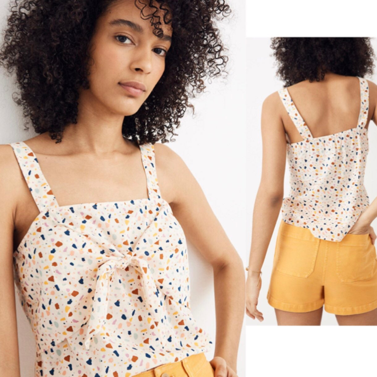 Madewell | Terrazzo Print Tie-Front Cami