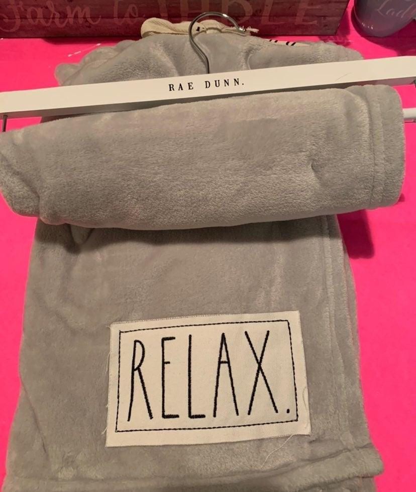 Rae Dunn Throw Blanket 50 x 60 Relax