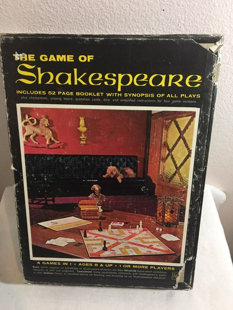 Vtg The Game of Shakespeare-4 Games in 1