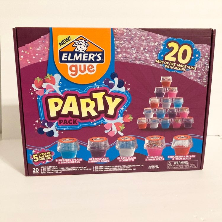 Elmer's Premade Slime Party Pack W/Mix-I