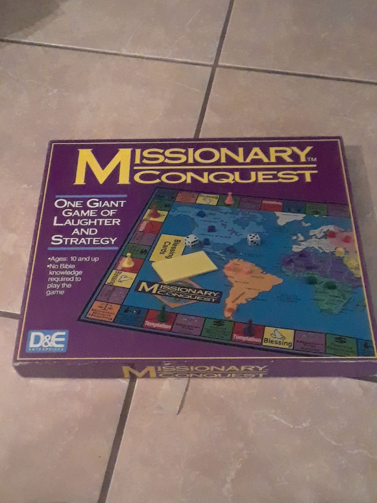 Missionary Conquest Board Game