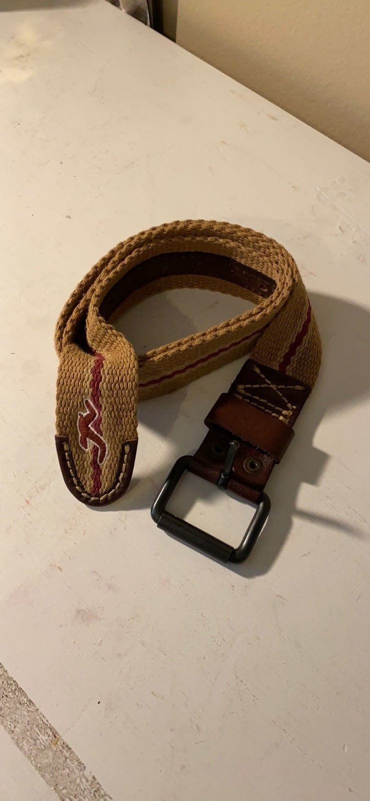 HOLLISTER CANVAS BELT Size: 34