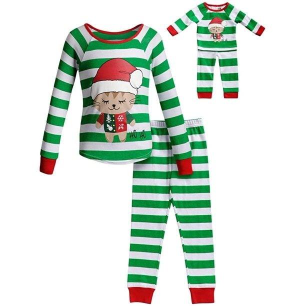 Dollie&Me Christmas PJ Set Sz 6 NWT