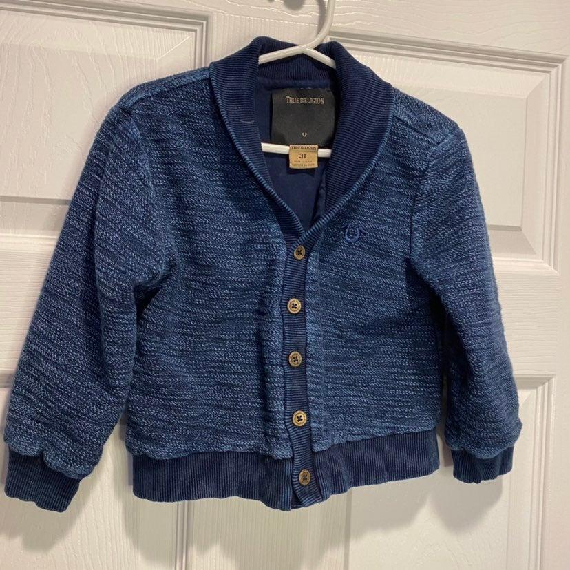 True religion boys button Sweater - 3T