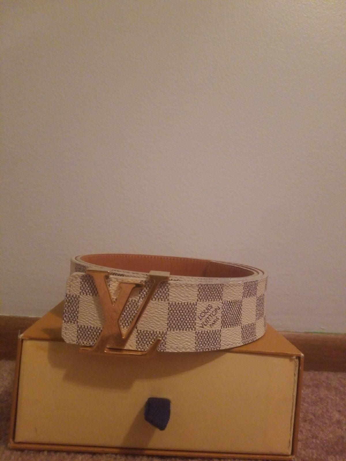 Louis Vuitton mens belt size 32+