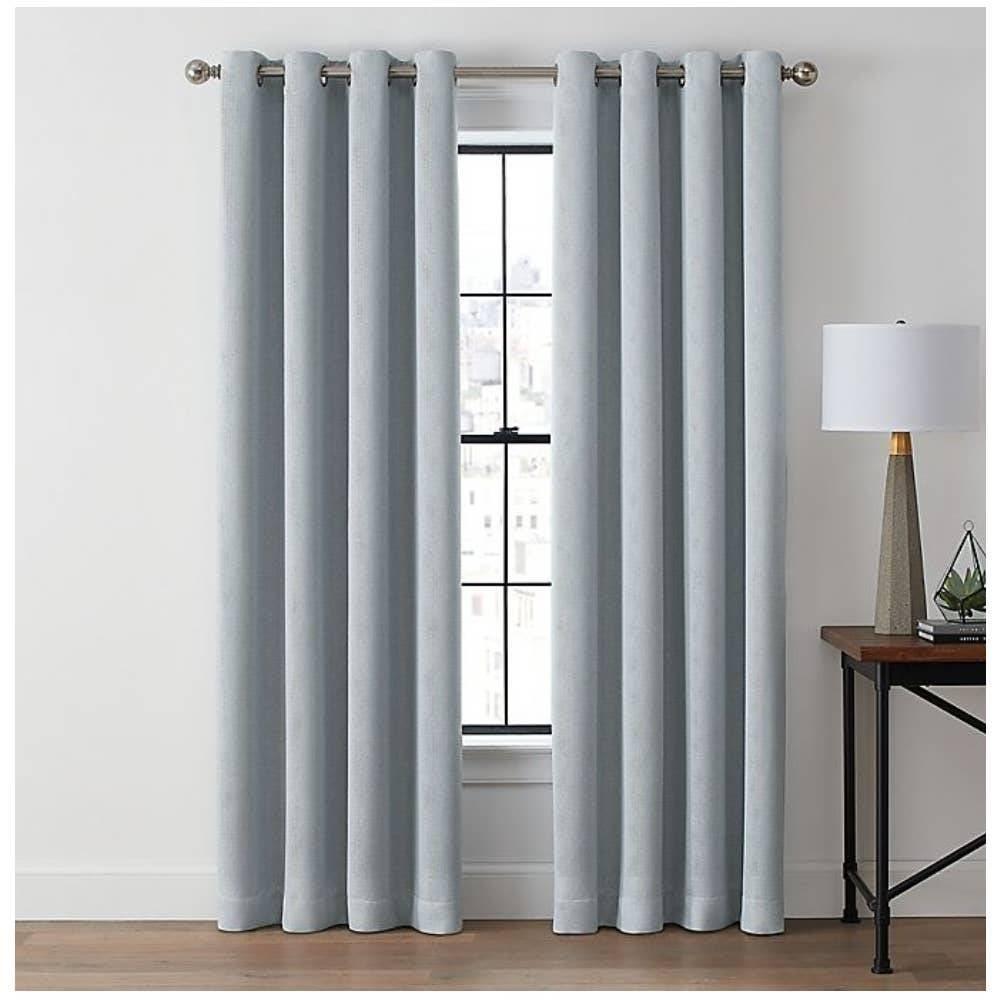"Brookstone Zadie 84""Curtain Panels Blue"