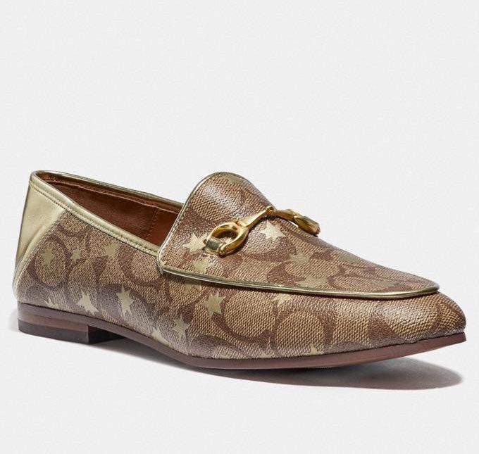 Coach Haley Star Print Loafer Womens 11