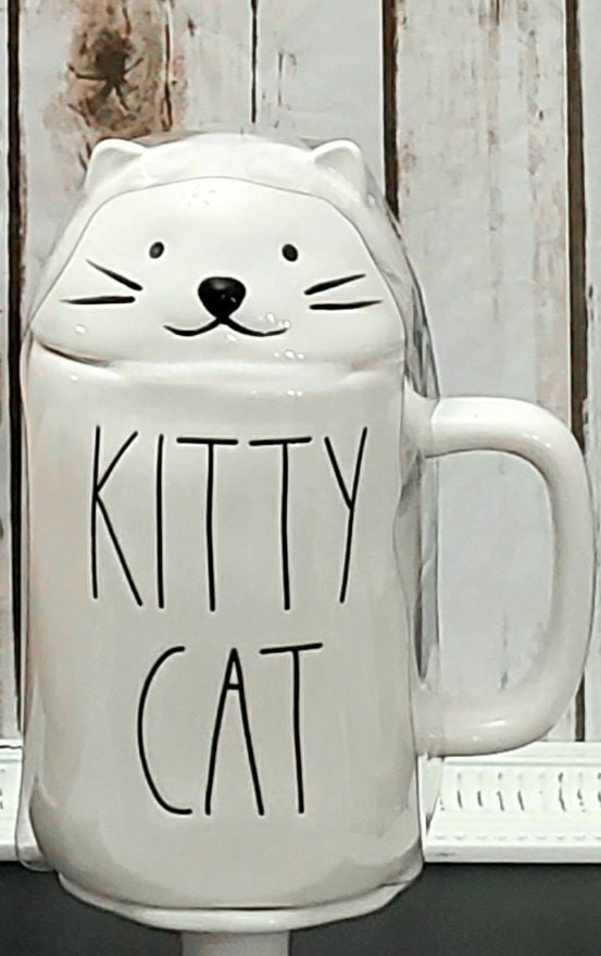 Rae Dunn Kitty Cat mug topper
