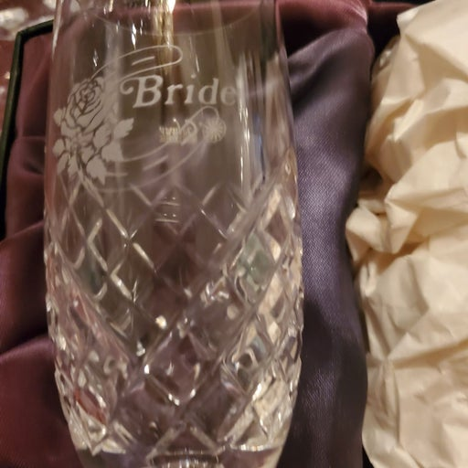 Galway Crystal Bride and Groom Champagne