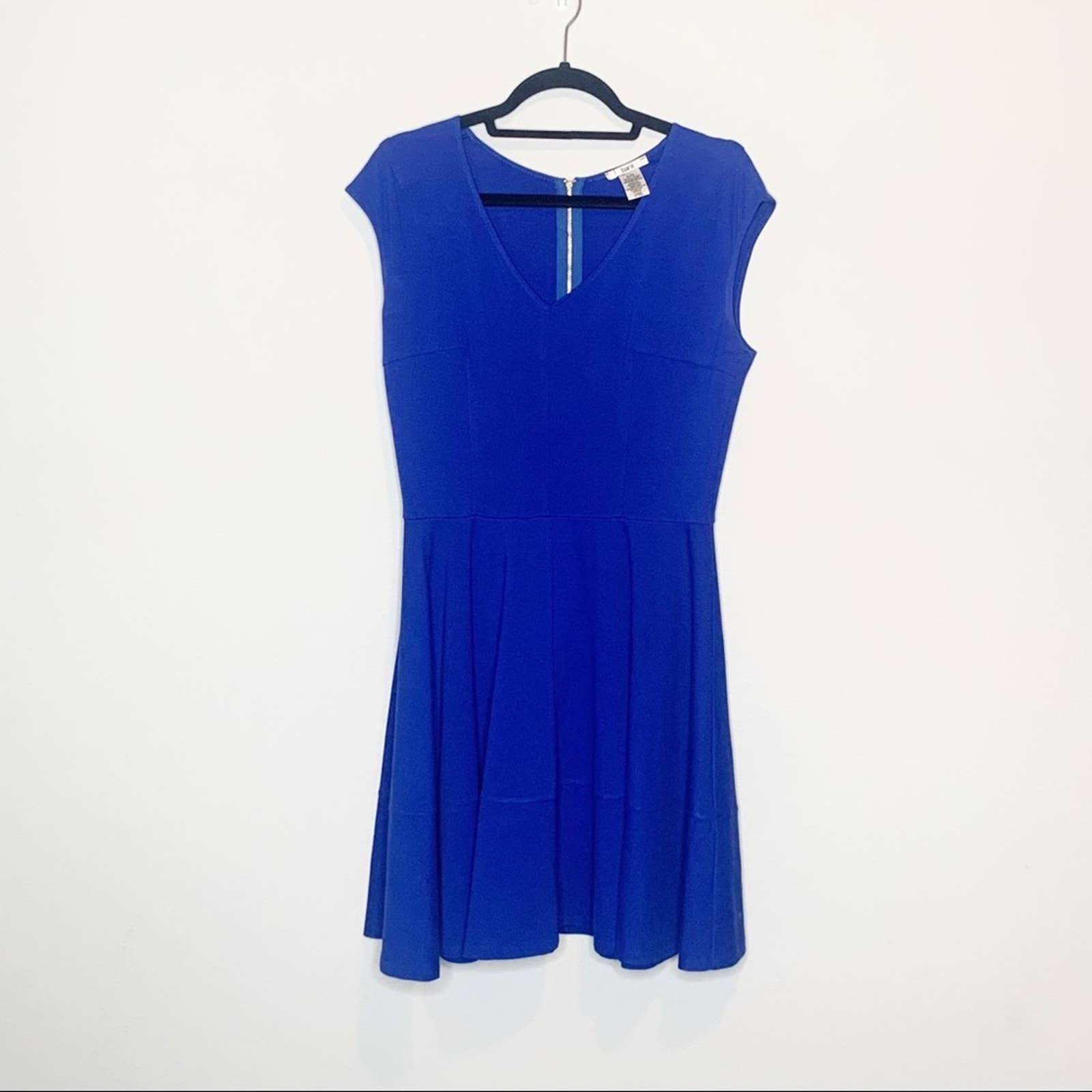 Bar III Royal Blue V-Neck Dress Size XL