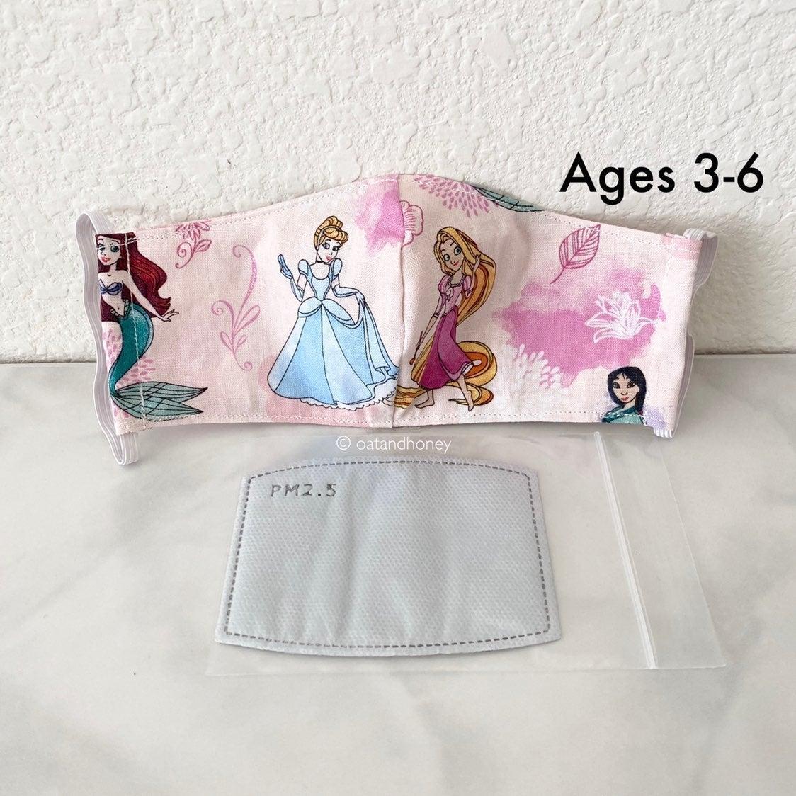 Disney Princess Kids Mask w/Filter