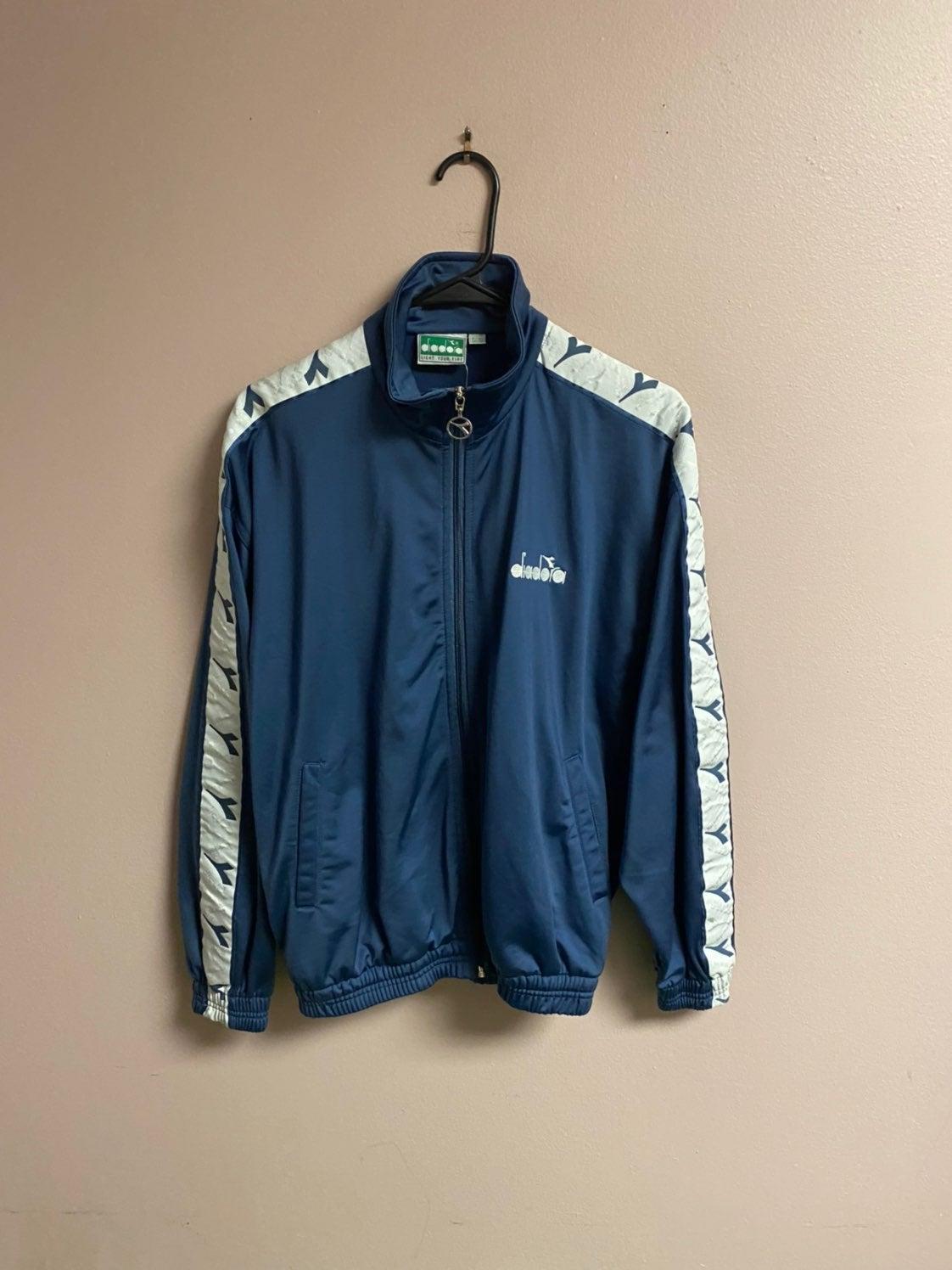 vintage diadora track jacket sz 38
