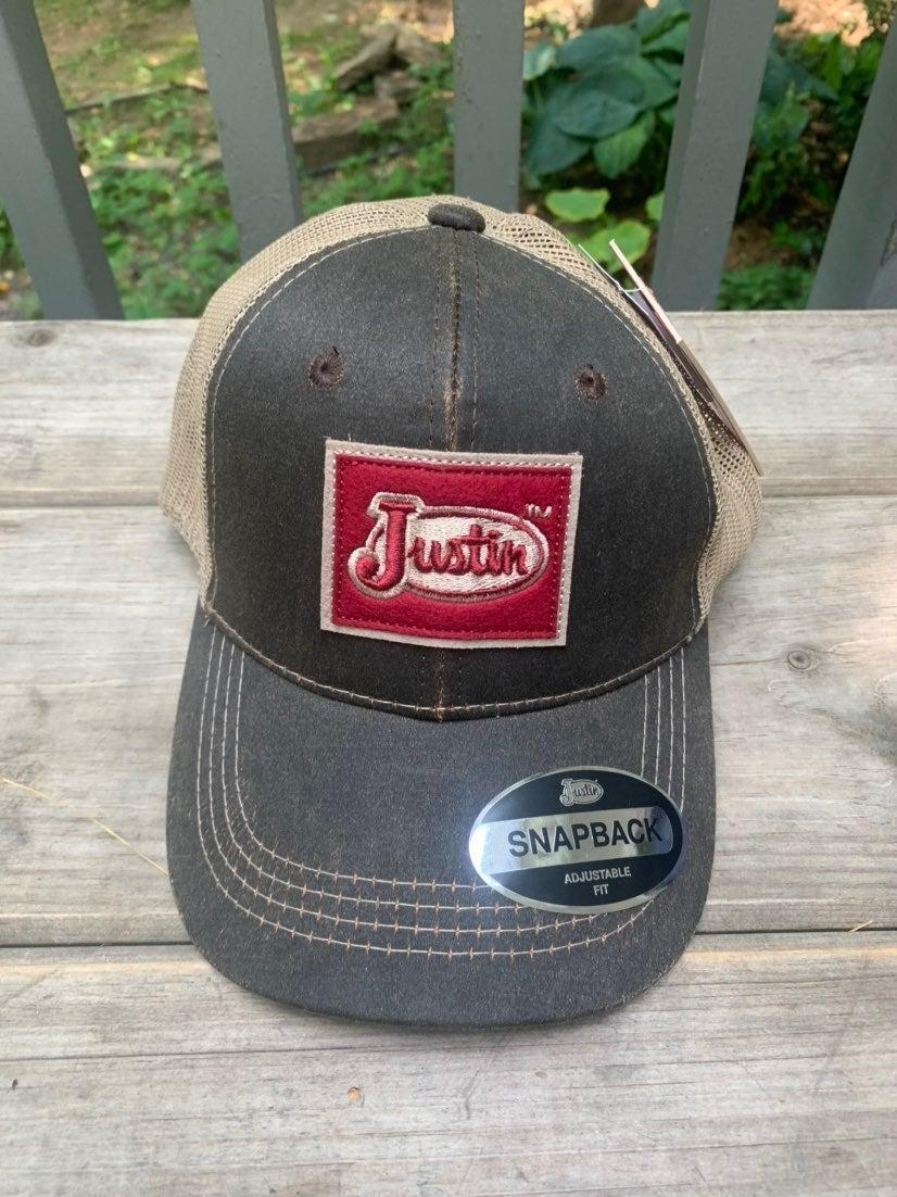 JUSTIN Snap-back Hat NWT