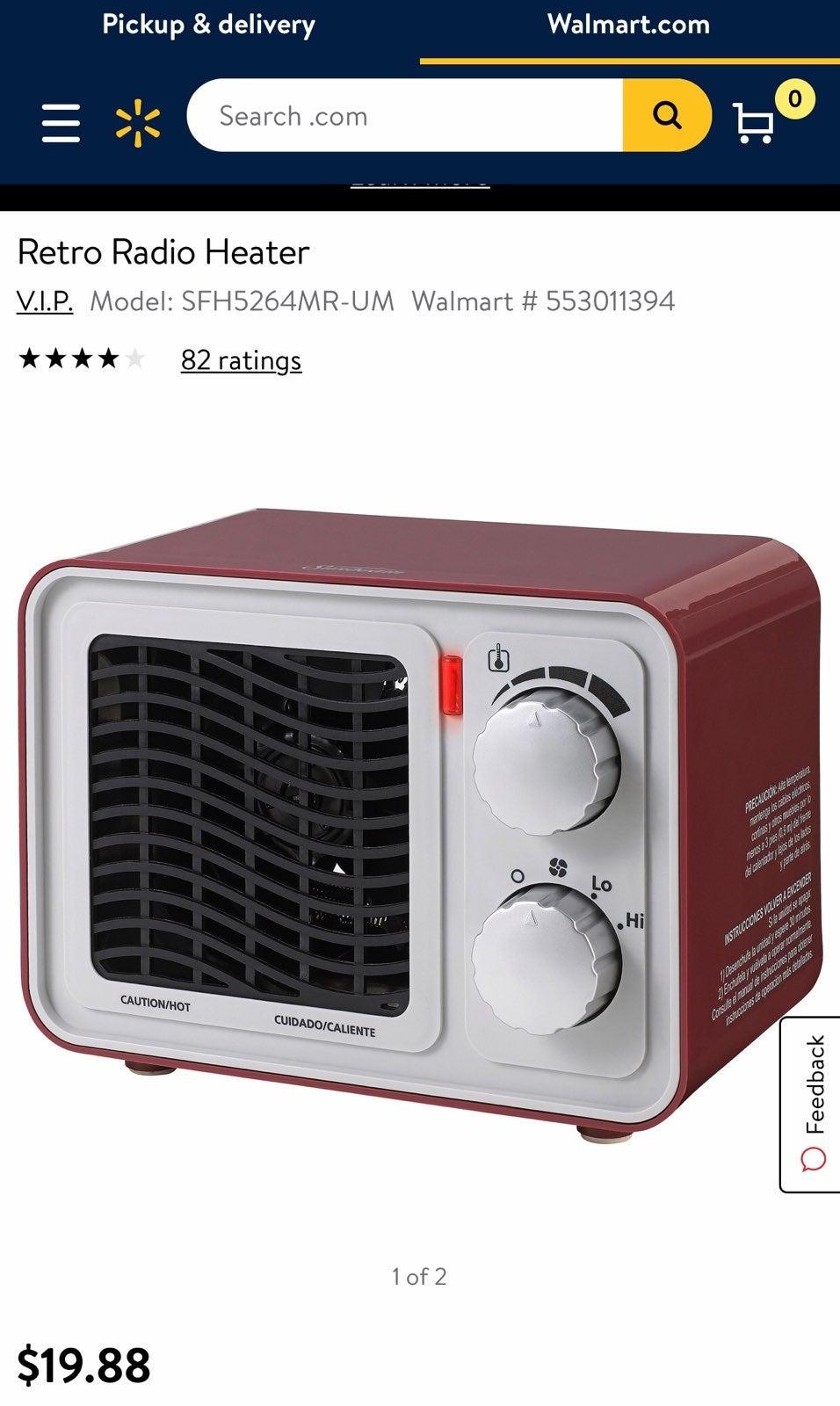 Sunbeam Retro Radio Space Heater