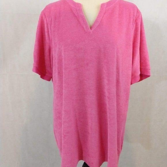 D & Co. Terry Top - Size 1X - Pink