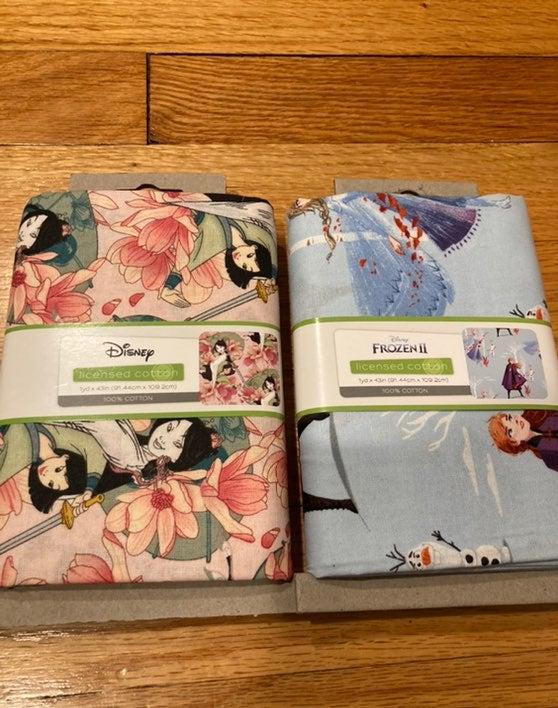 Disney Mulan & Frozen2 1YD Fabric