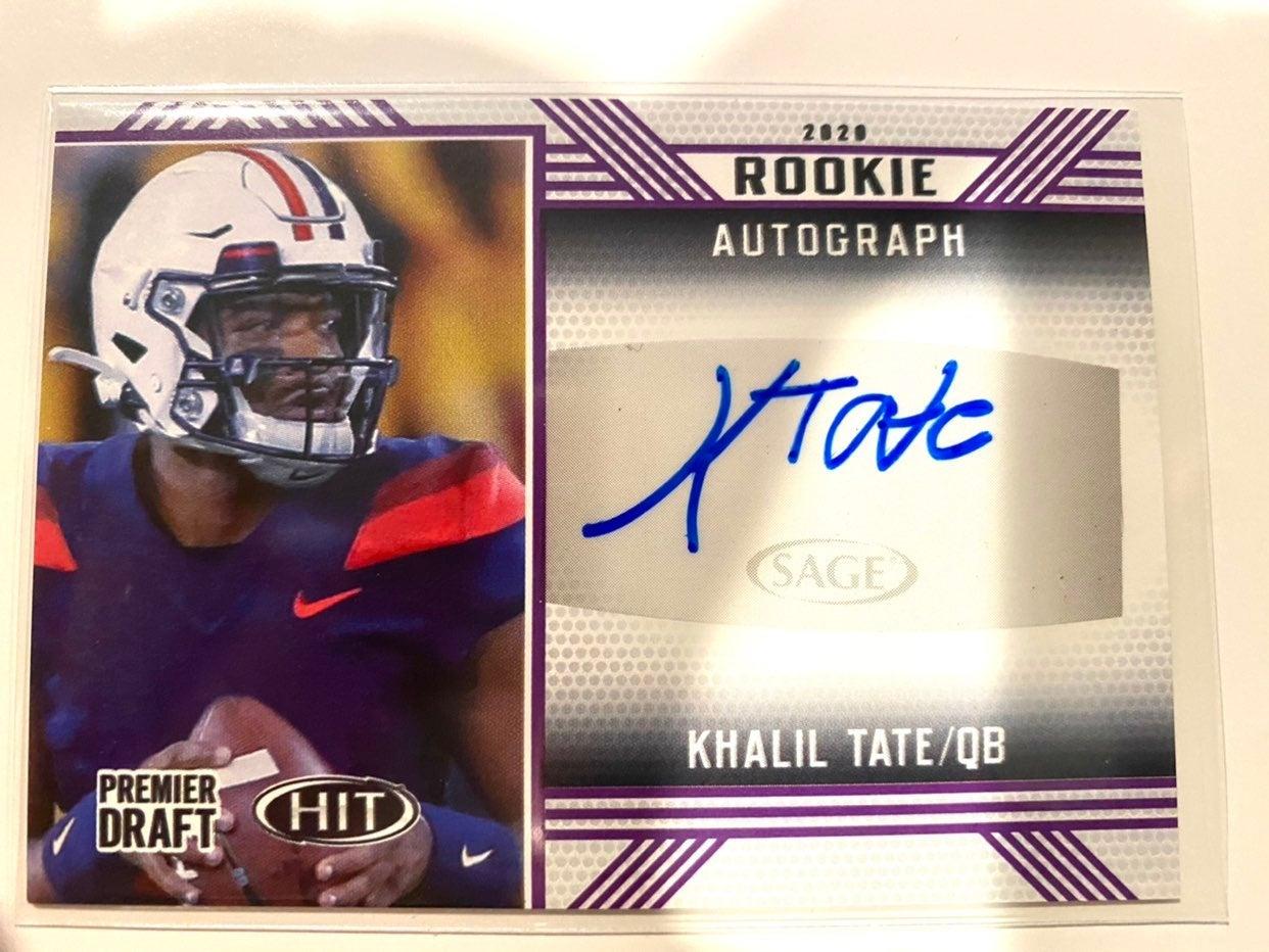 4 2020 Sage HIT rookie Autograph cards