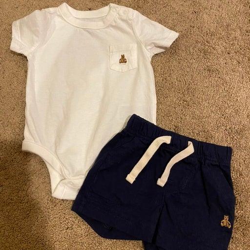 Baby gap top shirt & shorts boys size 3-6 months
