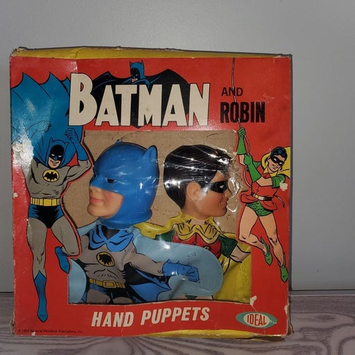 vintage 1966 batman and robin puppets id