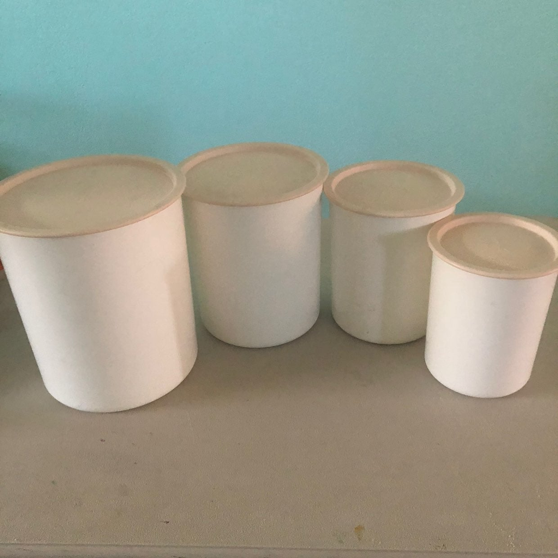 Vintage Tupperware Canister Set & Shaker