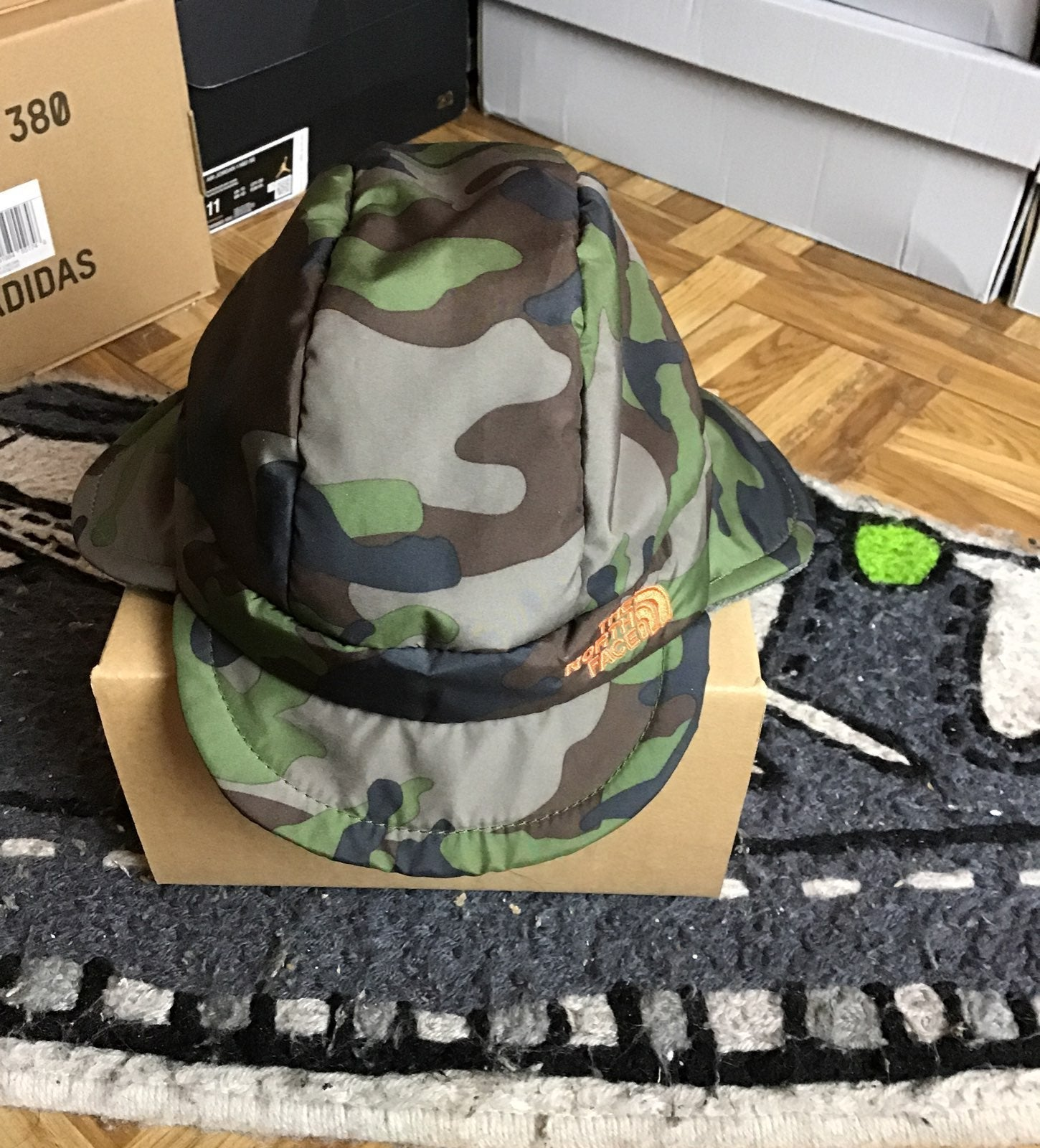 North face Camo Baby Flapjack Hat NWT