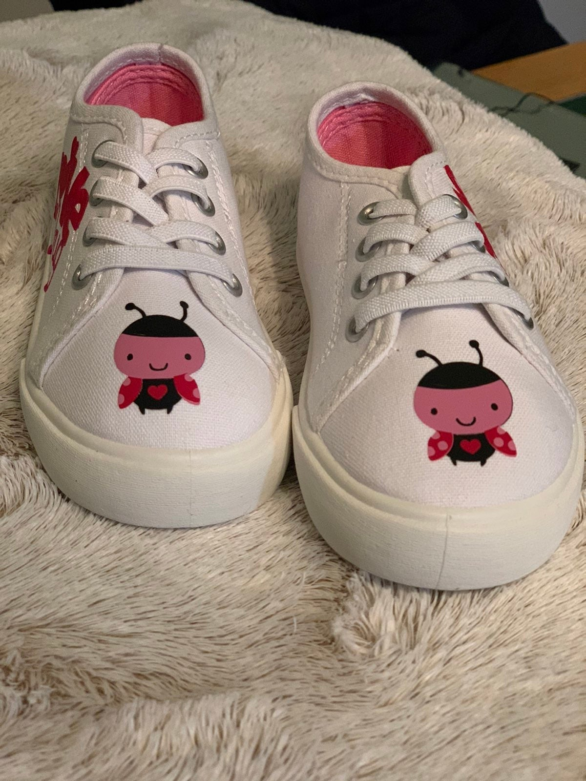 Lady bug  toddler slip on shoes