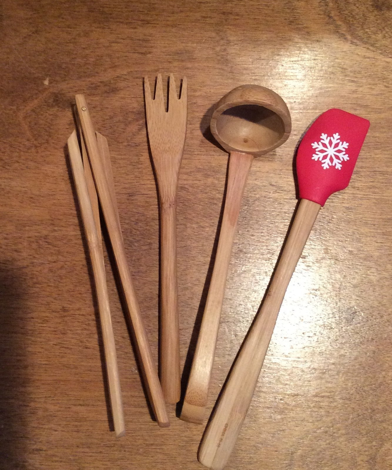 Pampered Chef Bamboo Serving Set