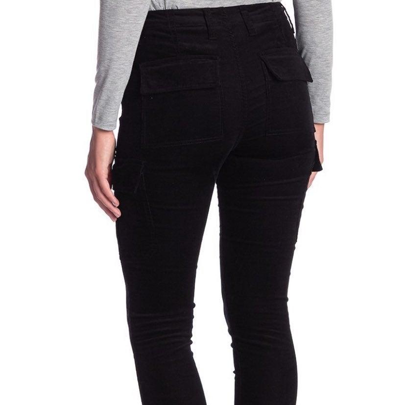 Black Pocketed Corduroy Pants