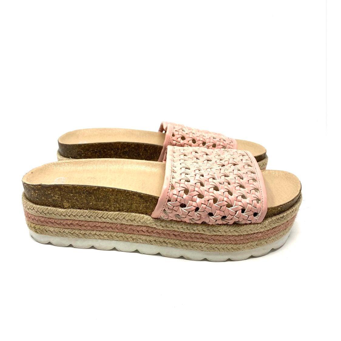 BP. Pink espadrilles platform sandals 9