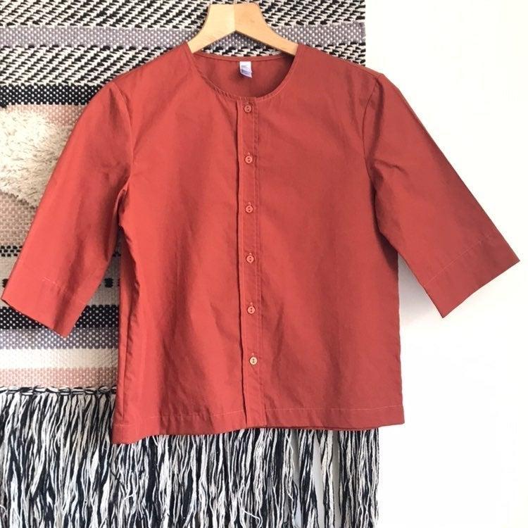 American Apparel Button Down top blouse