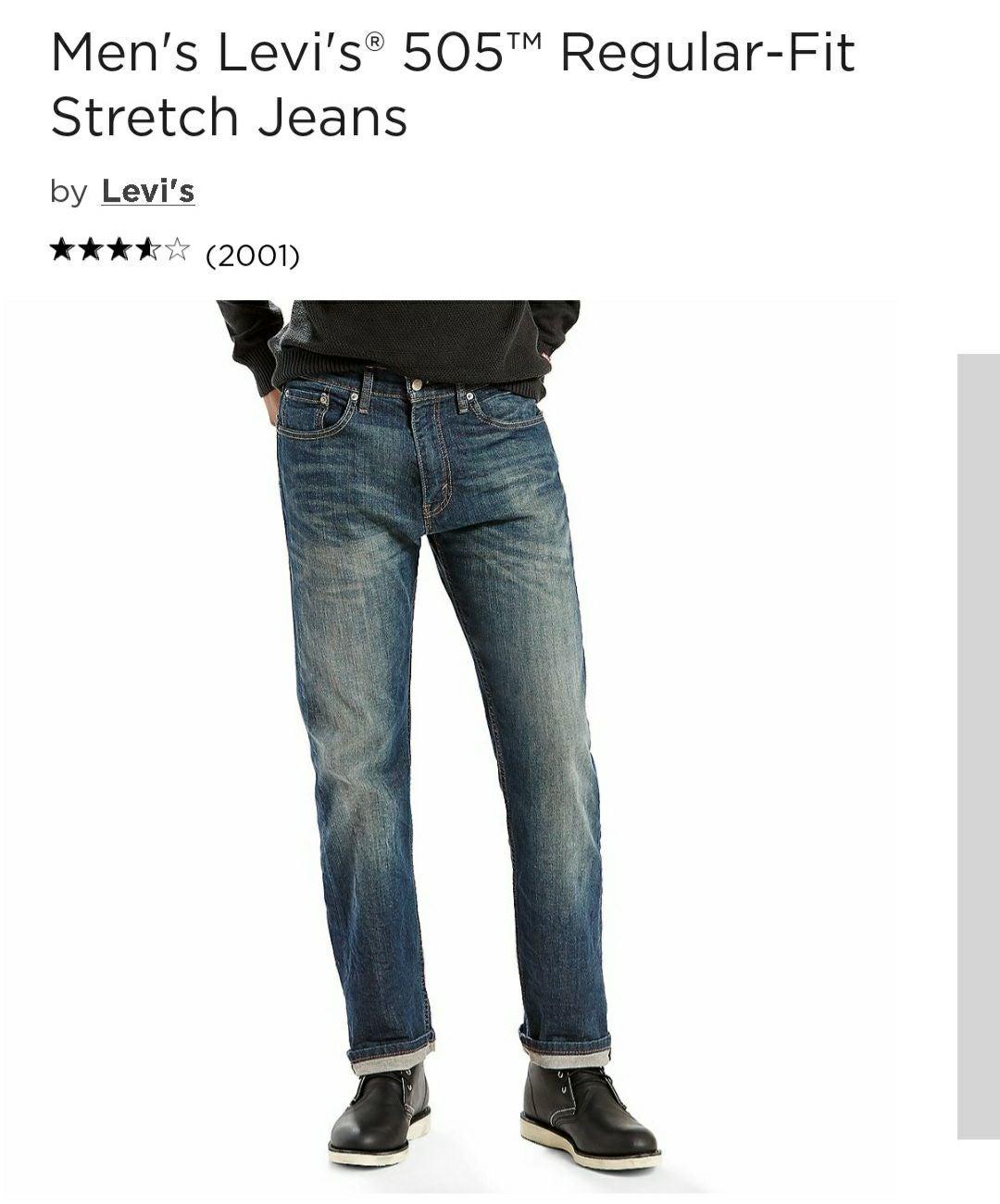 Men's Levi's 505 jeans 36/36
