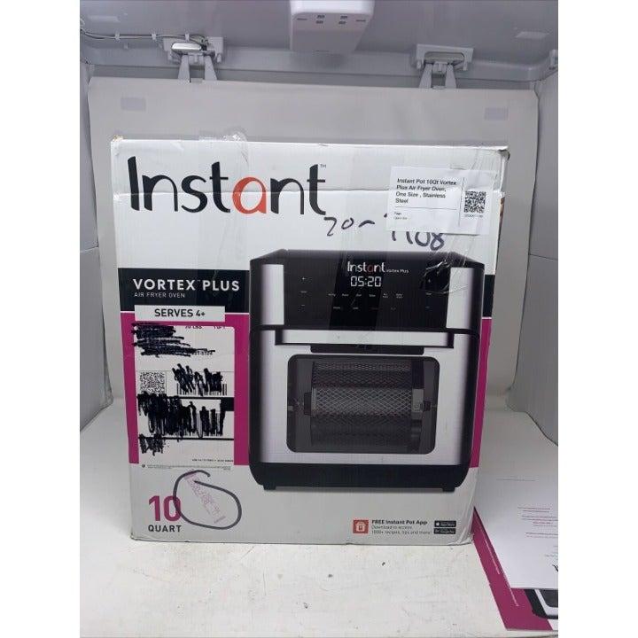 Instant 10Qt Vortex Plus Air Fryer Oven, Stainless Steel