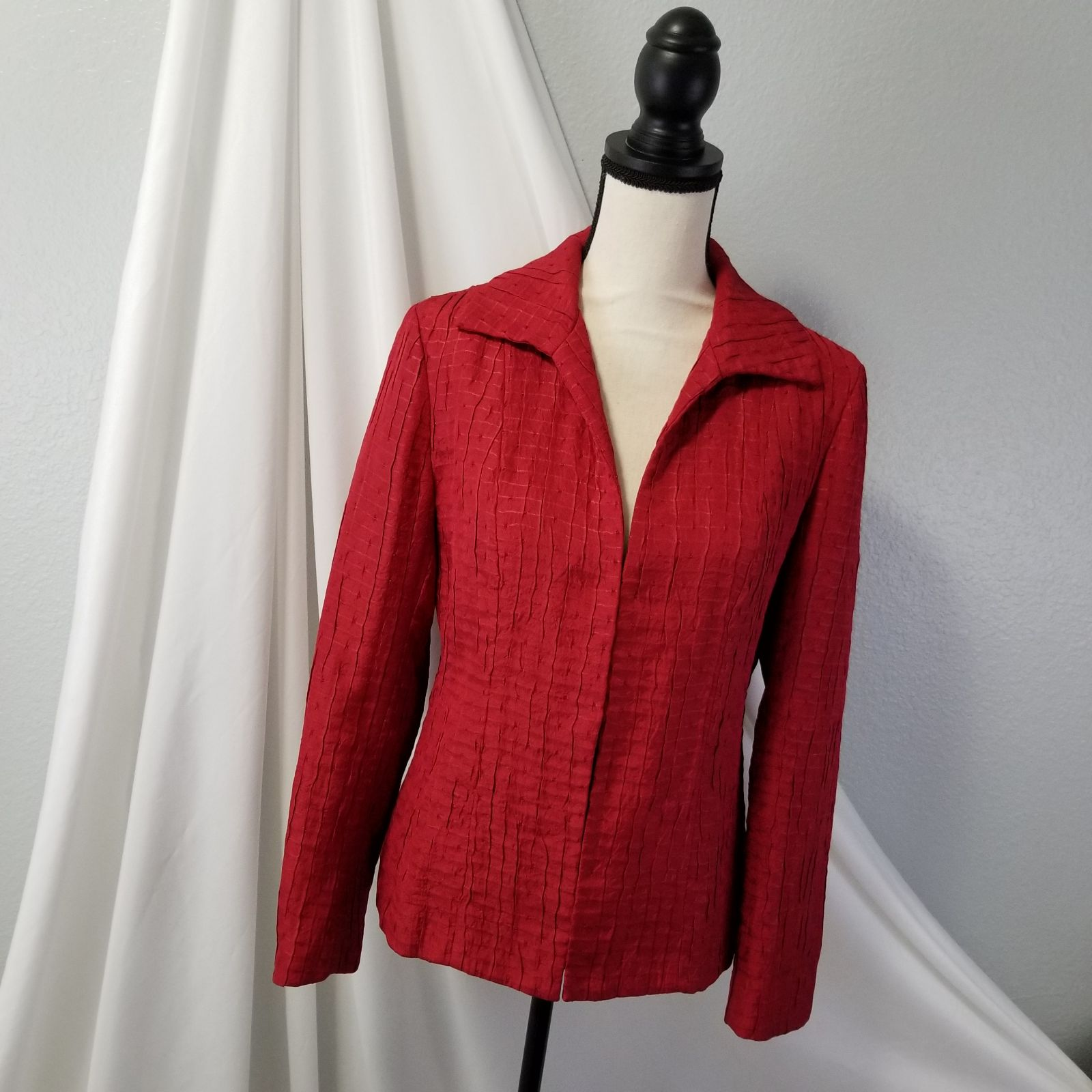 Chicos Red Suit Jacket