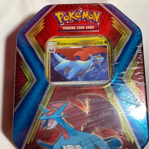 Pokemon Salamence Sealed tin
