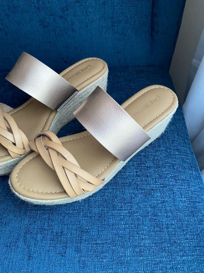 Lane Bryant Espadrille Platform Sandals
