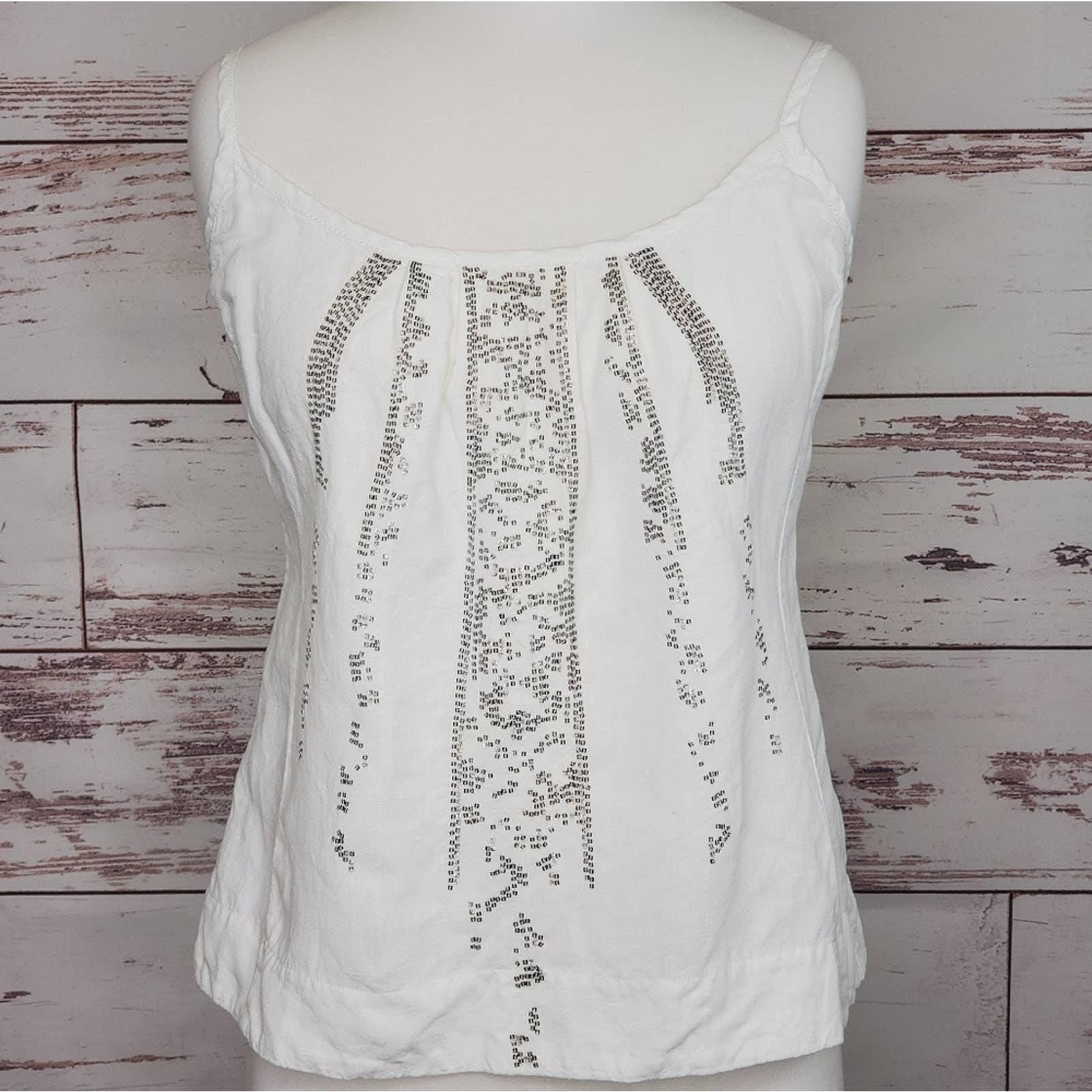 Sequin Linen Camisole Eileen Fisher PP