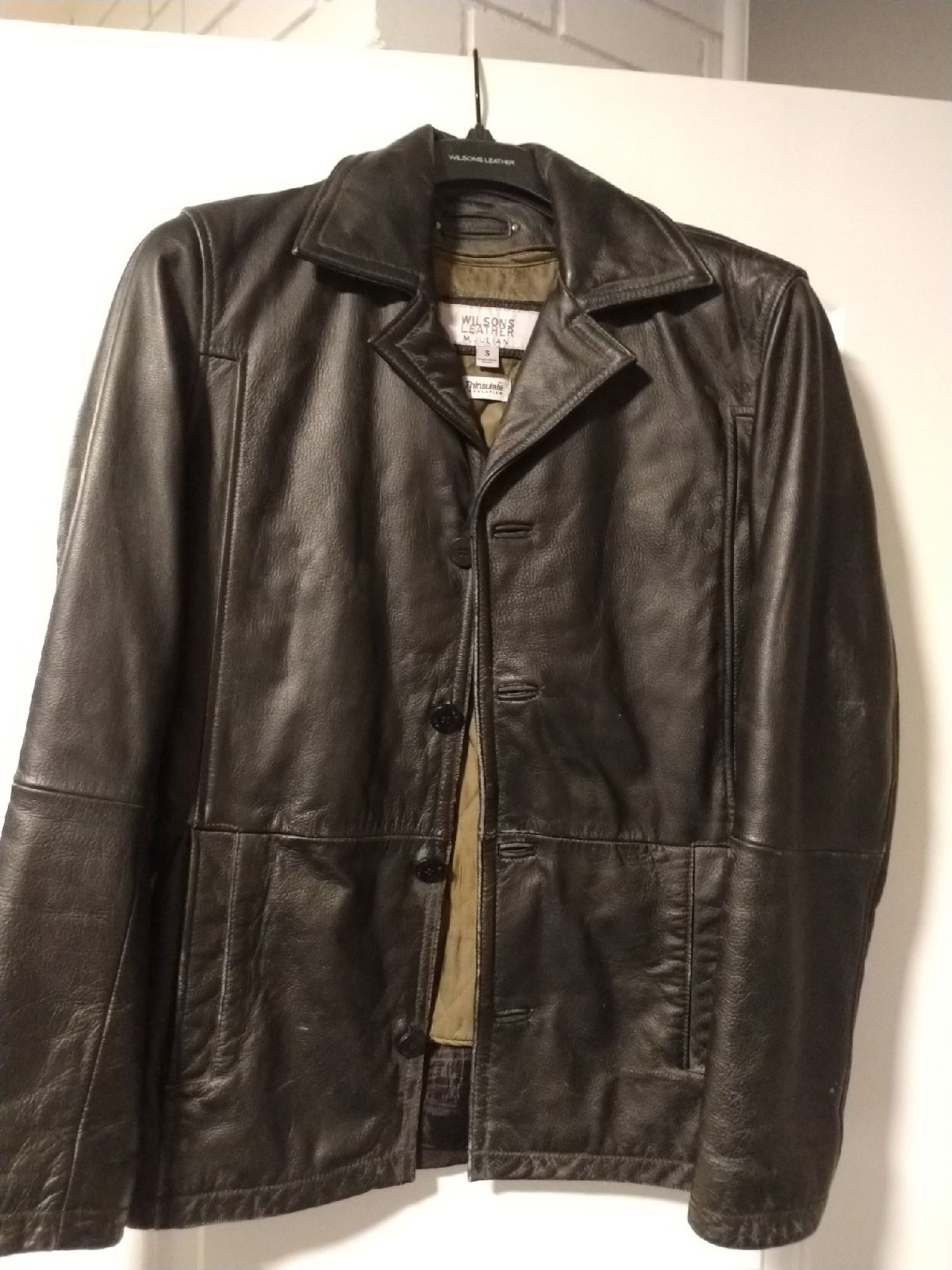 Wilsons leather mens jacket small