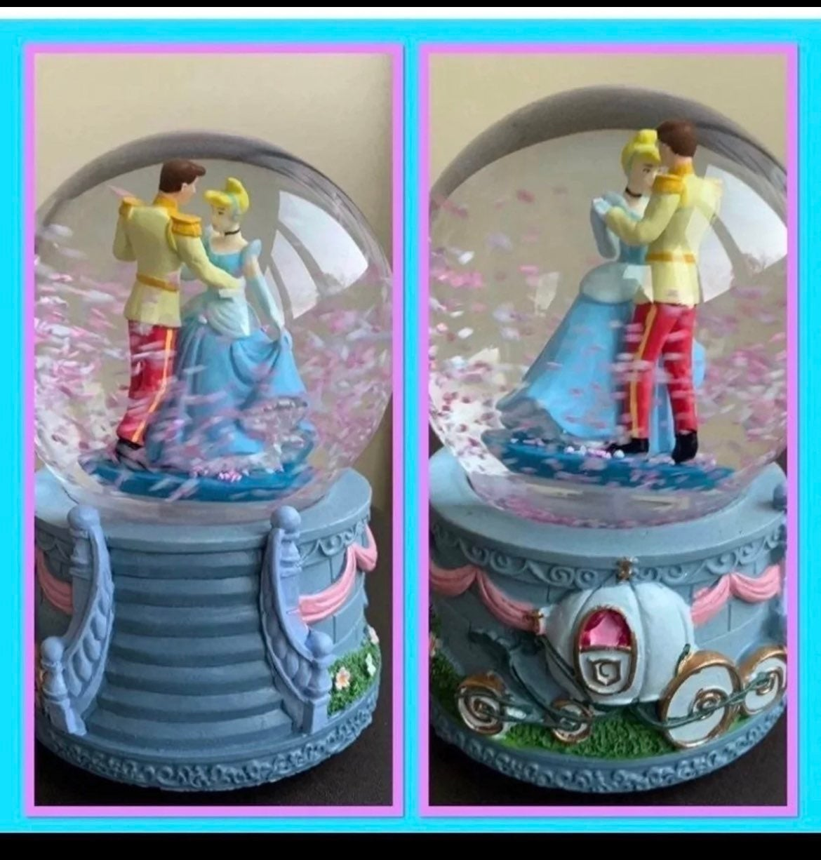 Prince Charming & Cinderella Snow globe