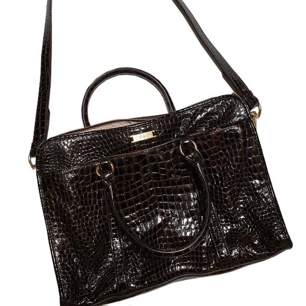 Cole Hann Brown Patent Leather Bag