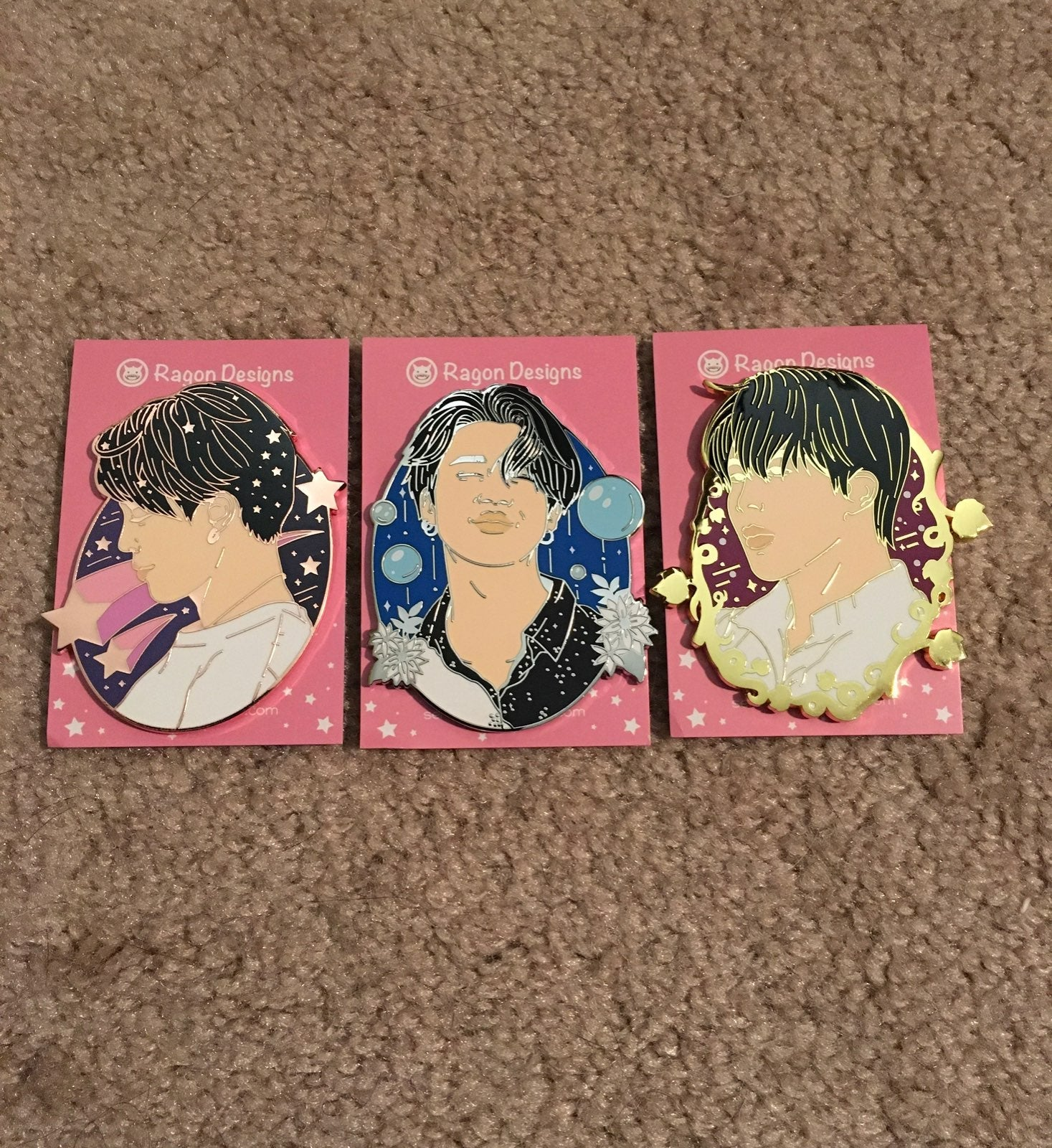 BTS Jimin Trio Enamel Pin Set
