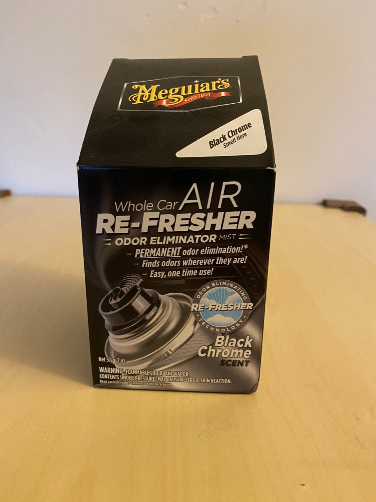Meguiar's whole car air re-fresher odor