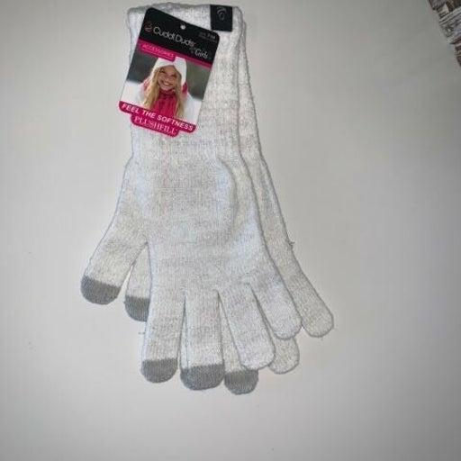 NEW Cuddl Duds Girls 7-14 Lurex Gloves