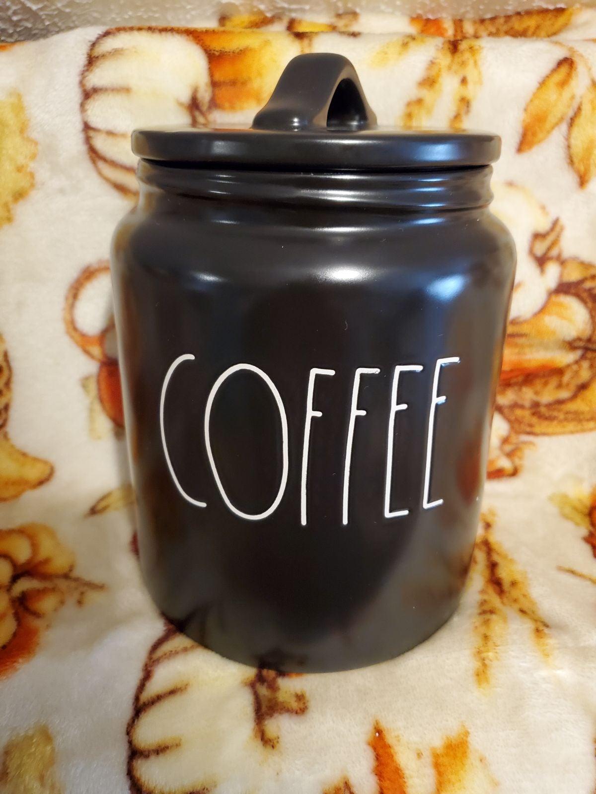Rae Dunn Black Coffee Canister
