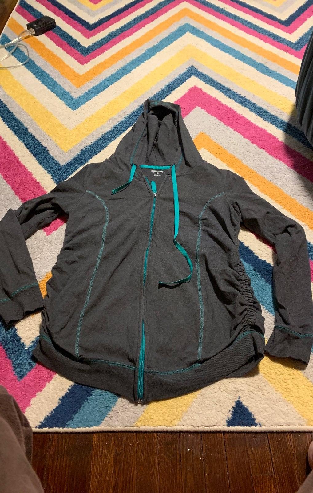 Maternity Large Zip-up Jacket Hoodie