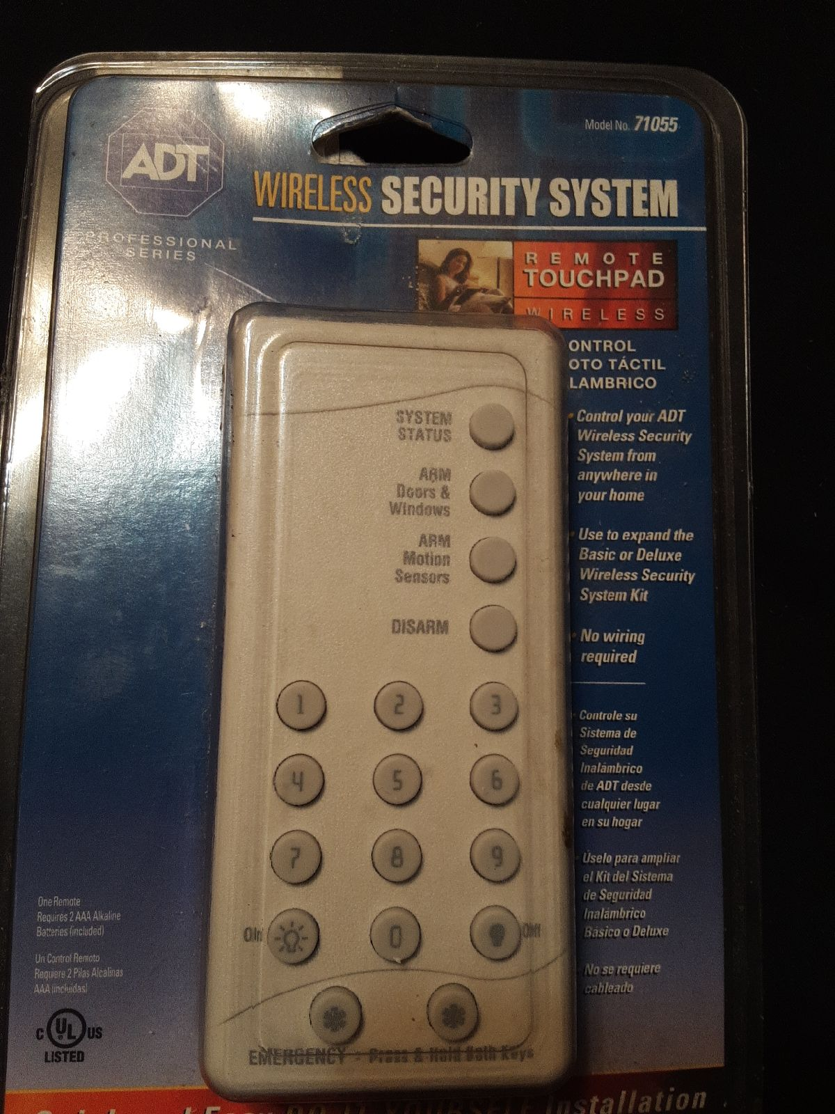 ADT WIRELESS REMOTE TOUCHPAD