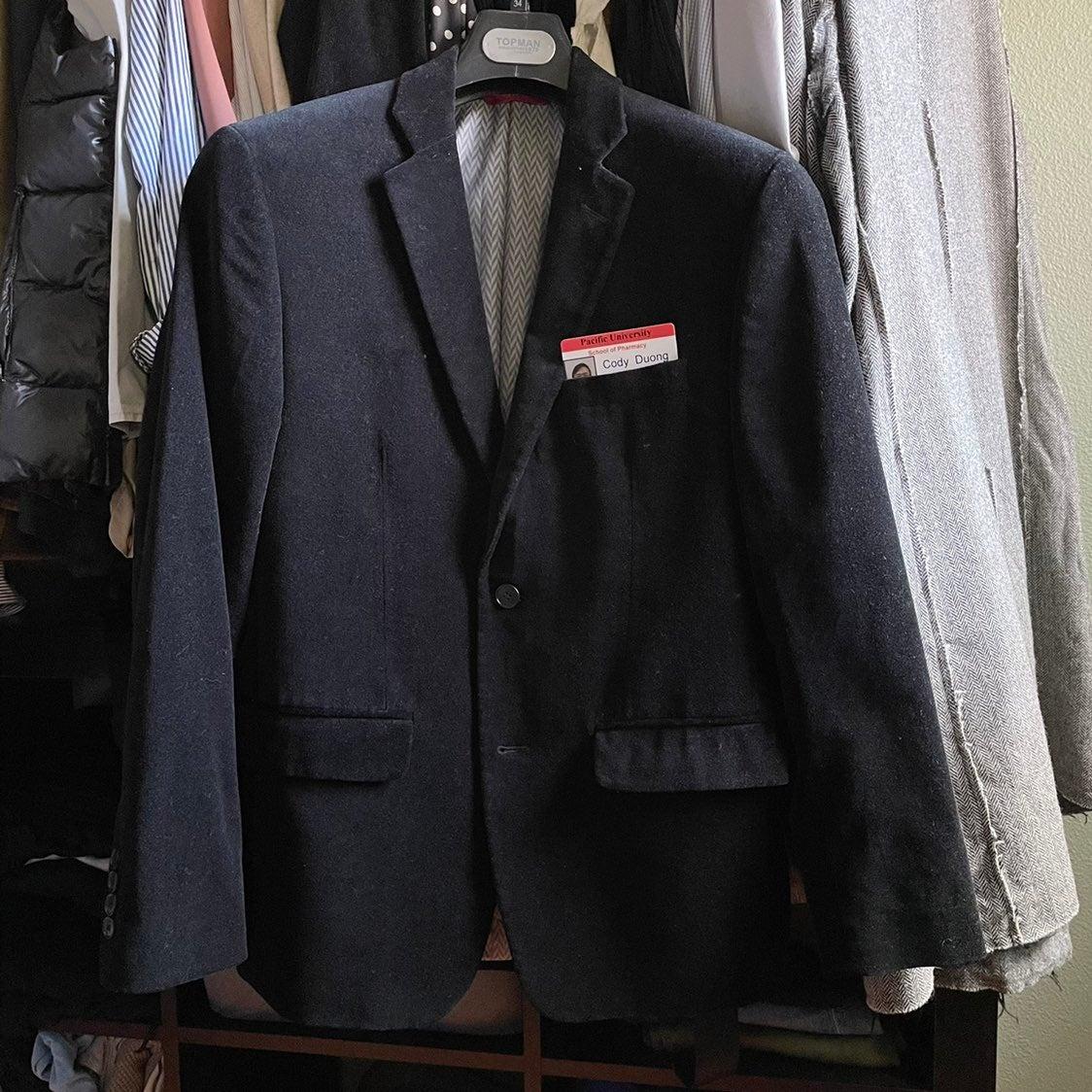 Alfani macy's Blazer velvet black jacket