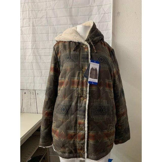 Pendleton Reversible Faux Fur Jacket L