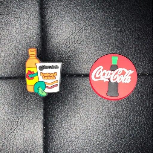 2 Crocs Jibbitz Coca Cola Maruchan