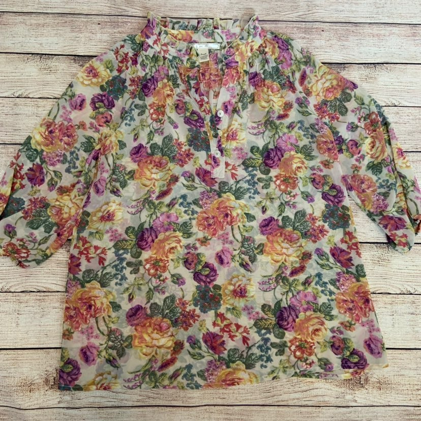 Yada Floral Blouse Small